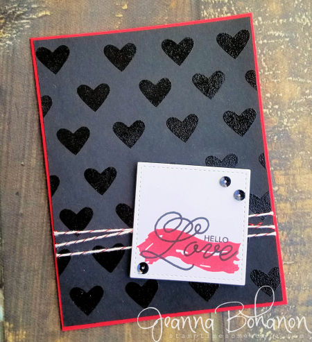 PCC#244 Stampin' Up! Sending Love Valentine card by Jeanna Bohanon