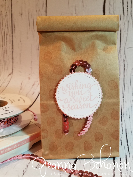 #TGIFC87 Stampin' Up! Candy Cane Christmas Cafe Bag by Jeanna Bohanon