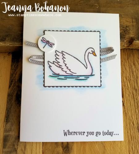 PCC237 Card Sketch Stampin' Up! Swan Lake by Jeanna Bohanon