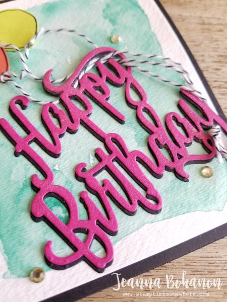 Happy Birthday Stampin' Up! Balloon Celebration card by Jeanna Bohanon 2