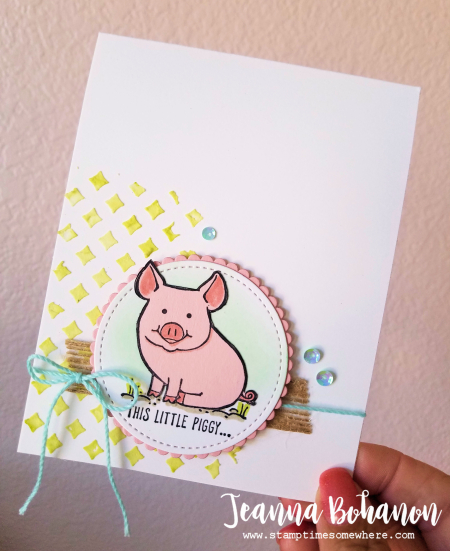 PCC249 Stampin' Up! This Little Piggy by Jeanna Bohanon