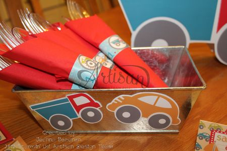 On the Go party ensemble napkins MDS Jeanna Bohanon Stamp Time Somewhere