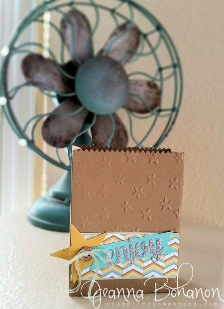 Mini Treat Bag Thinlit ensemble Jeanna Bohanon Stampin Up bag 1