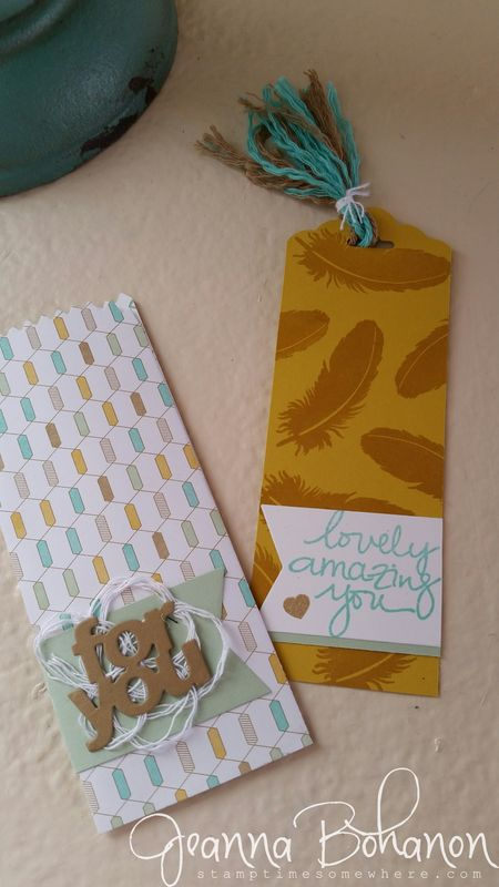 Mini Treat Bag Thinlit ensemble Jeanna Bohanon Stampin Up bookmark