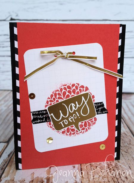 WCBH I Think You're Great Stampin' Up! Jeanna Bohanon