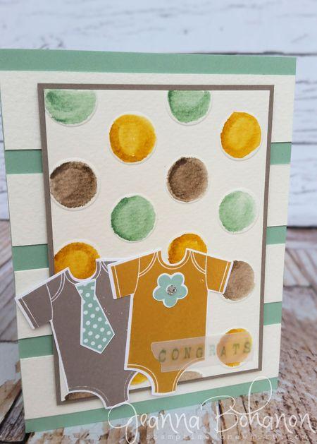 #TGIFC09 Jeanna Bohanon Watercolor Baby Card