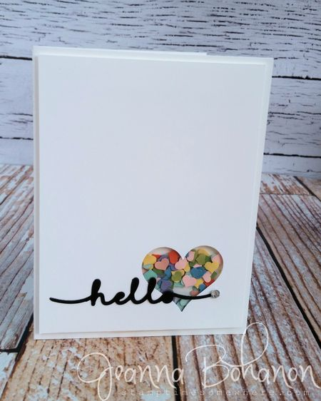 #PunchItUp Stampin' Up! challenge card by Jeanna Bohanon