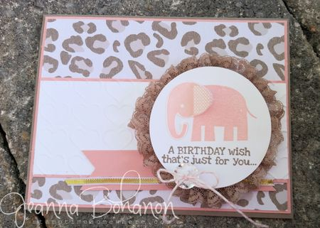 #TGIFC20 card sketch Stampin' Up! by Jeanna Bohanon