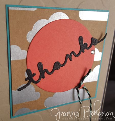 Stampin' Up! Shine On Thank You cards by Jeanna Bohanon 3