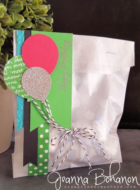OnStage Display Stamper Cucumber Crush candy goodie bag Jeanna Bohanon