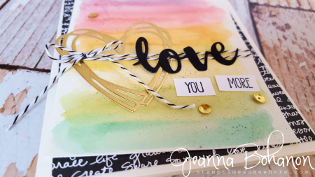 Stampin' Up! Sunshine Wishes Love card by Jeanna Bohanon 2