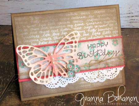 OSAT July 16 Shabby Chic Stampin' Up! Jeanna Bohanon