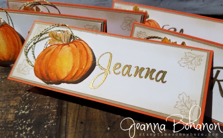 #TGIFC75 Stampin' Up! Jar of Haunts elegant placecards Jeanna Bohanon 2