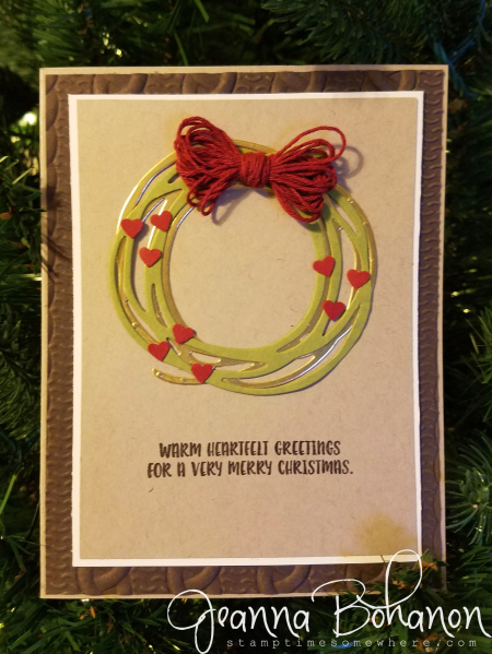 #tgifc84 Christmas Color Combo Stampin' Up! Christmas Cookie Cutter by Jeanna Bohanon