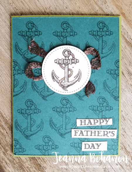 WCBH6-1 Stampin' Up! Guy Greetings by Jeanna Bohanon stepped up
