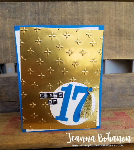 PCC247 Stampin' Up! Graduation Card by Jeanna Bohanon