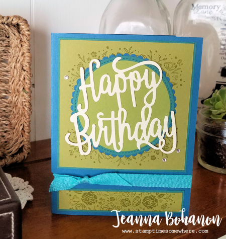 PCC248 Stampin' Up! Wood Words by Jeanna Bohanon
