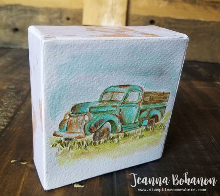 OSAT Blog Hop Stampin' Up! Country Livin' Jeanna Bohanon canvas