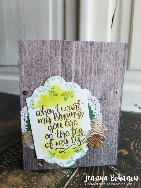 #TGIF127 Stampin' Up! Count My Blessings by Jeanna Bohanon