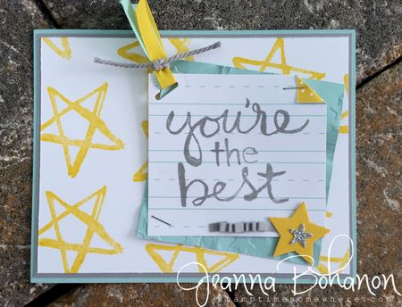 #TGIFC15 Stampin' Up! Watercolor Words color combo Jeanna Bohanon