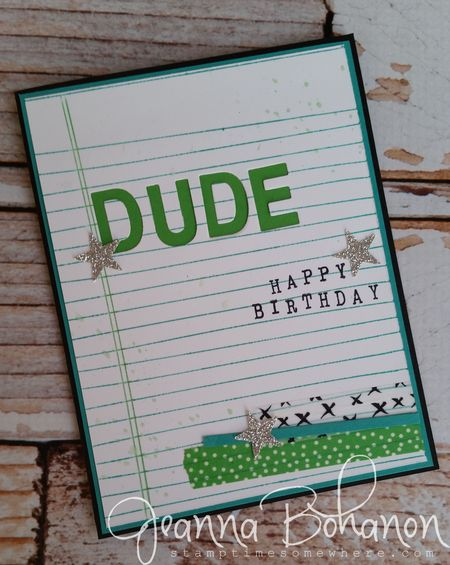 Fancy Friday Stampin' Up! Jeanna Bohanon