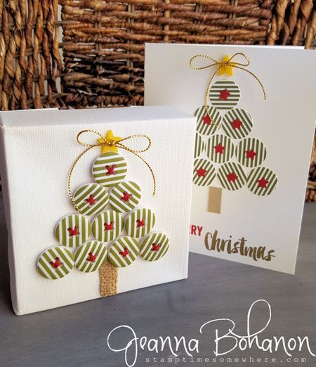 OSAT Blog Hop Stampin' Up! Christmas decor and card Jeanna Bohanon 1