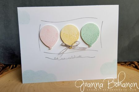 #TGIFC33 sketch Stampin' Up! Balloon Celebrations Jeanna Bohanon 1