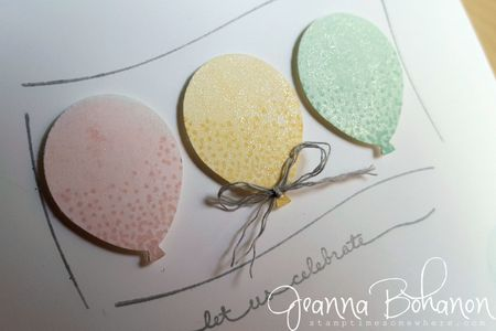 #TGIFC33 sketch Stampin' Up! Balloon Celebrations Jeanna Bohanon 2