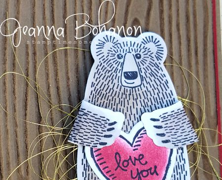 Stampin' Up! Bear Hugs #TGIFC39 Jeanna Bohanon 2