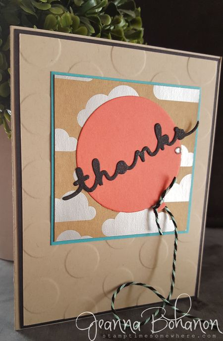 Stampin' Up! Shine On Thank You cards by Jeanna Bohanon 1