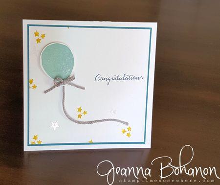 #TGIFC54 Stampin' Up! Balloon Celebration color combo Jeanna Bohanon