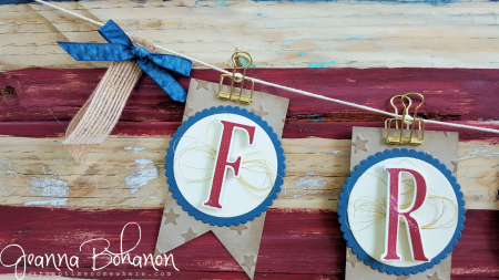 #TGIFC62 Large Letters 4th of July Patriotic Banner - Stampin' Up! Jeanna Bohanon 3