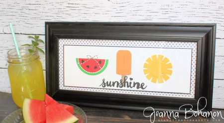 #TGIFC64 Stampin' Up! Summer Sunshine home decor Jeanna Bohanon 1