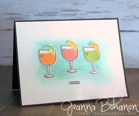 #TGIFC65 Stampin' Up! Mixed Drinks CAS card by Jeanna Bohanon