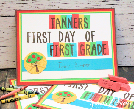 #TGIFC69 Back to School Stampin' Up! Layering Alphabet Jeanna Bohanon 1