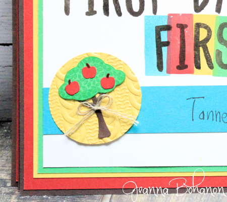 #TGIFC69 Back to School Stampin' Up! Layering Alphabet Jeanna Bohanon 2