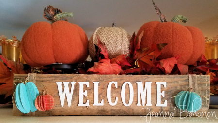 OSAT Oct16 Stampin' Up! Fall Welcome sign Jeanna Bohanon