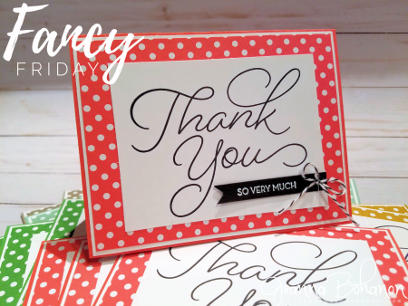 Fancy Friday January 2017 Stampin' Up! So Very Much Jeanna Bohanon