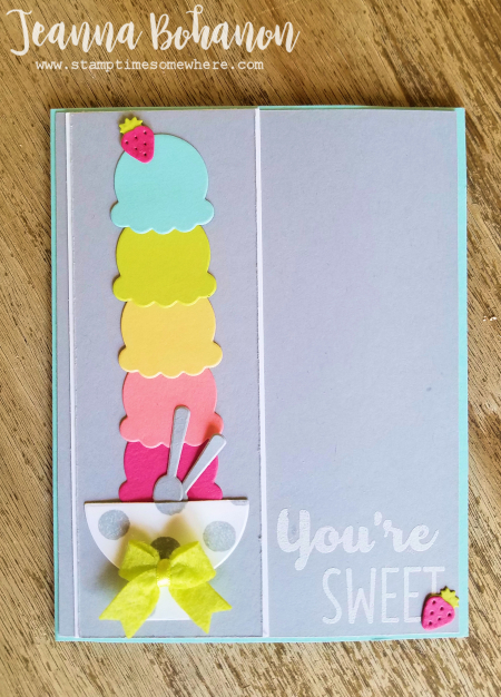 Fancy Friday Stampin' Up! Cool Treats In Color Jeanna Bohanon