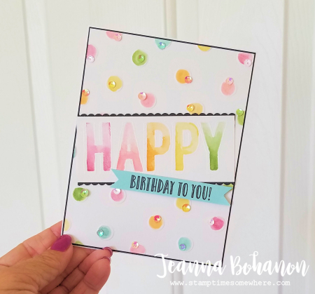 Fancy Friday #TGIFC122 Stampin' Up! Happy Celebrations by Jeanna Bohanon