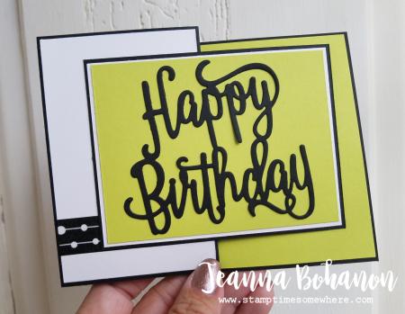 #TGIFC126 Stampin' Up! Happy Birthday Boy Z-fold card bu Jeanna Bohanon