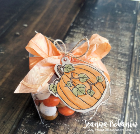 Fancy Friday Stampin' Up! Seasonal Chums Thanksgiving treat box Jeanna Bohanon