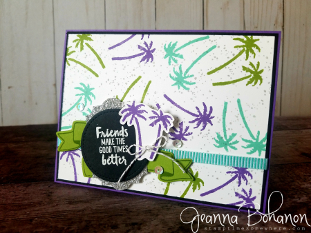 July FF Stampin' Up! Waterfront card by Jeanna Bohanon