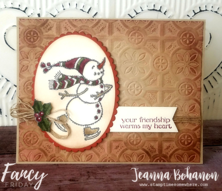 #tgif184 Fancy Friday Stampin' Up! Spirited Snowmen by Jeanna Bohanon