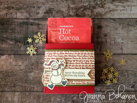 #tgifc191 Stampin' Up! snowman hot chocolate holder Jeanna Bohanon