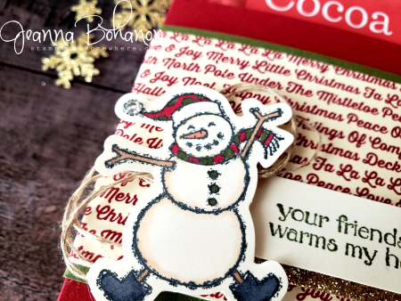 #tgifc191 Stampin' Up! snowman hot chocolate holder Jeanna Bohanon 2