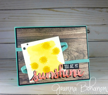 PCC301 We Create Blog Hop Stampin' Up! Summer Sunshine card by Jeanna Bohanon