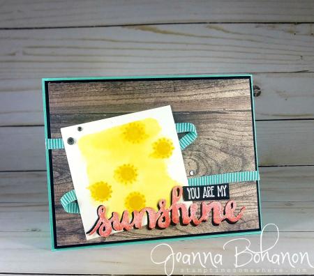PCC301 We Create Blog Hop Stampin' Up! Summer Sunshine card by Jeanna Bohanon