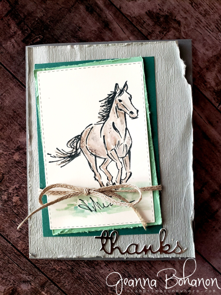 Creation Station Stampin' Up! Let It Ride Thank You card by Jeanna Bohonon