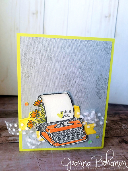 #tgifc167 Stampin' Up! P.S. You're the Best by Jeanna Bohanon